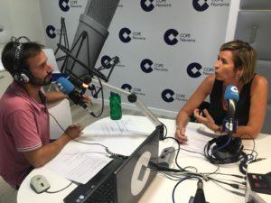 Cristina Larráyoz hablando de apuestas deportivas en cope navarra