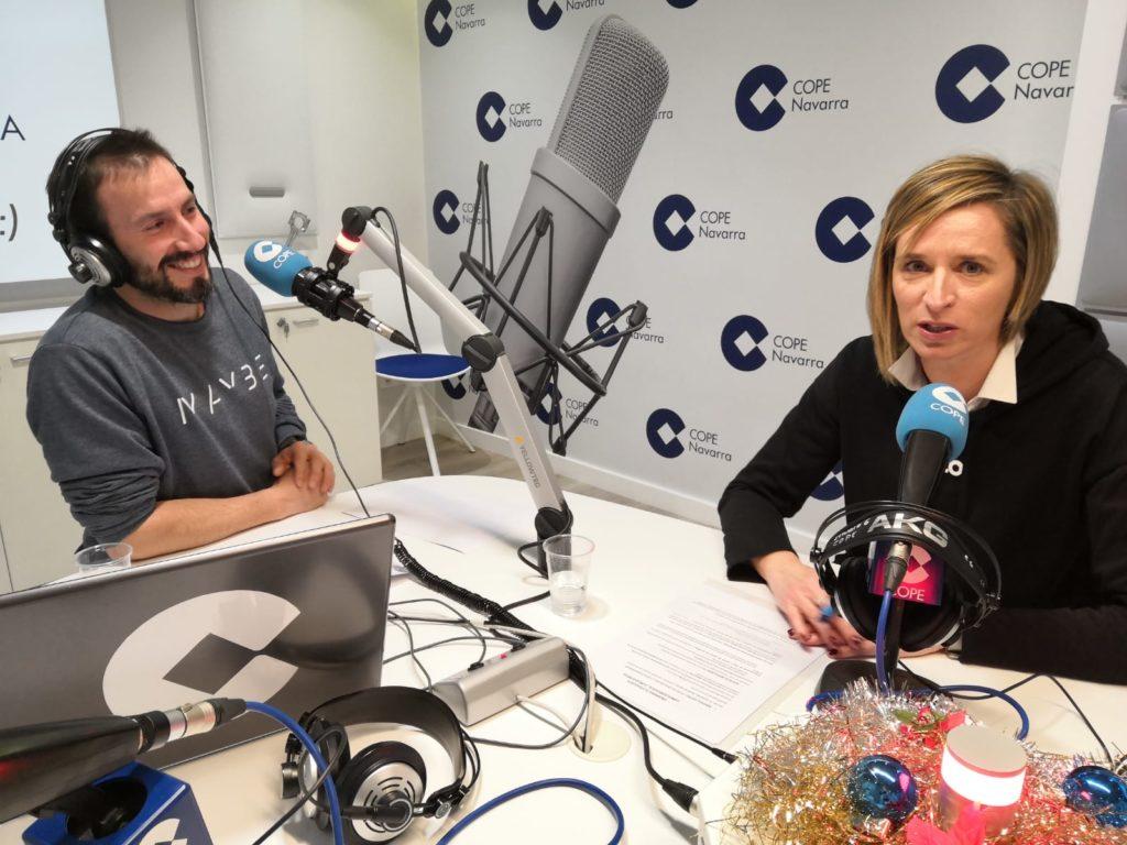 Cristina Larrayoz hablando de comer consciente en cope navarra